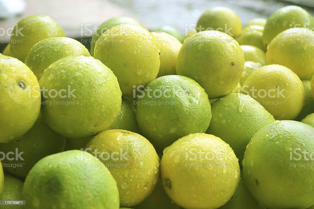 Fresh Grapefruit in the market stock photo