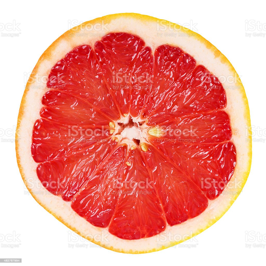 Fresh grapefruit slice stock photo