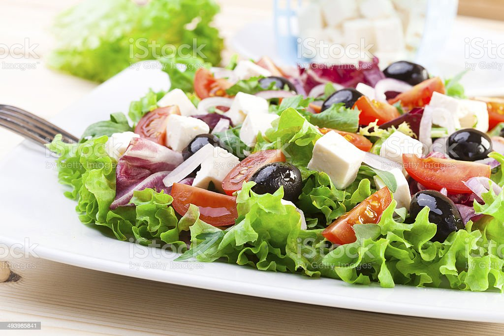 Fresh Greek salad royalty-free stock photo