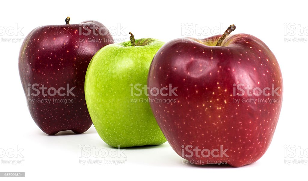 Fresh Green and Red Apples stock photo