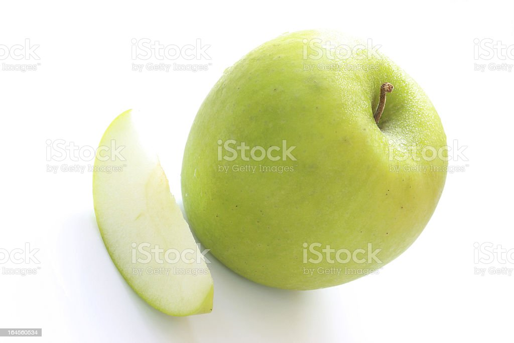 Fresh green apple royalty-free stock photo