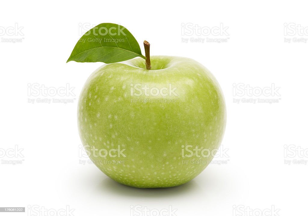 Fresh Green Apple ( with clipping path ) royalty-free stock photo