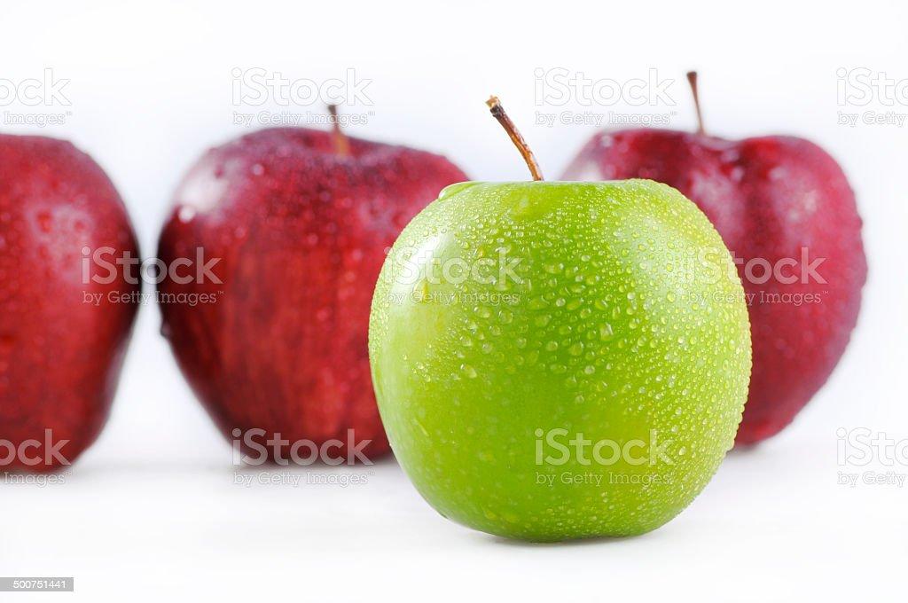 fresh green apple stock photo