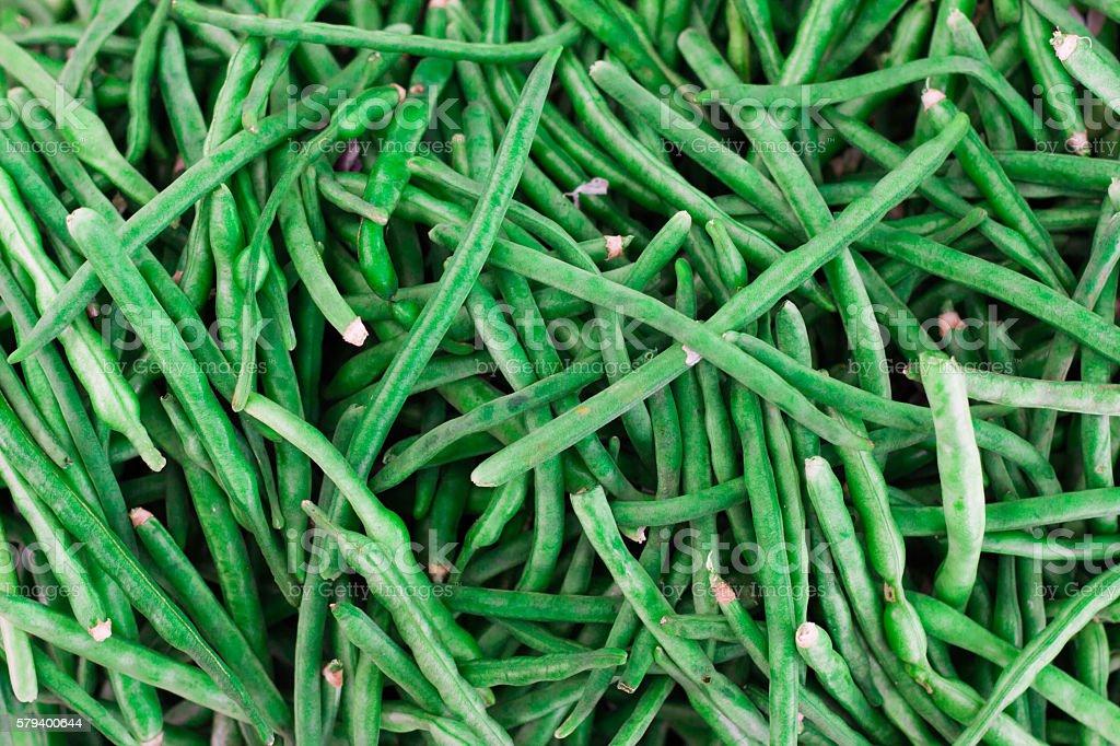 Fresh Green Beans Background stock photo