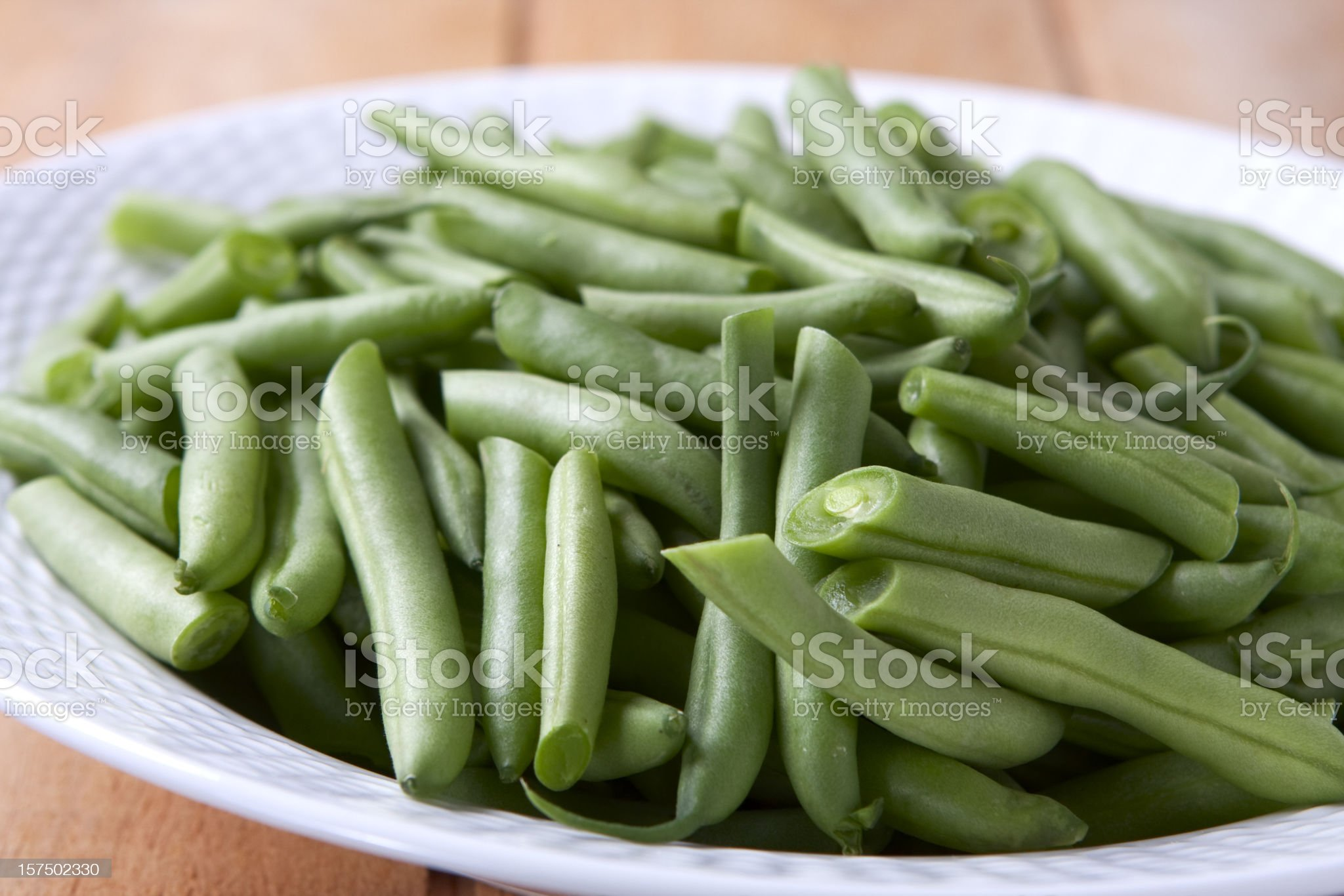 Fresh Green Beans royalty-free stock photo