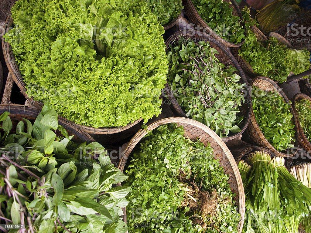 Fresh green leaf veggies stock photo