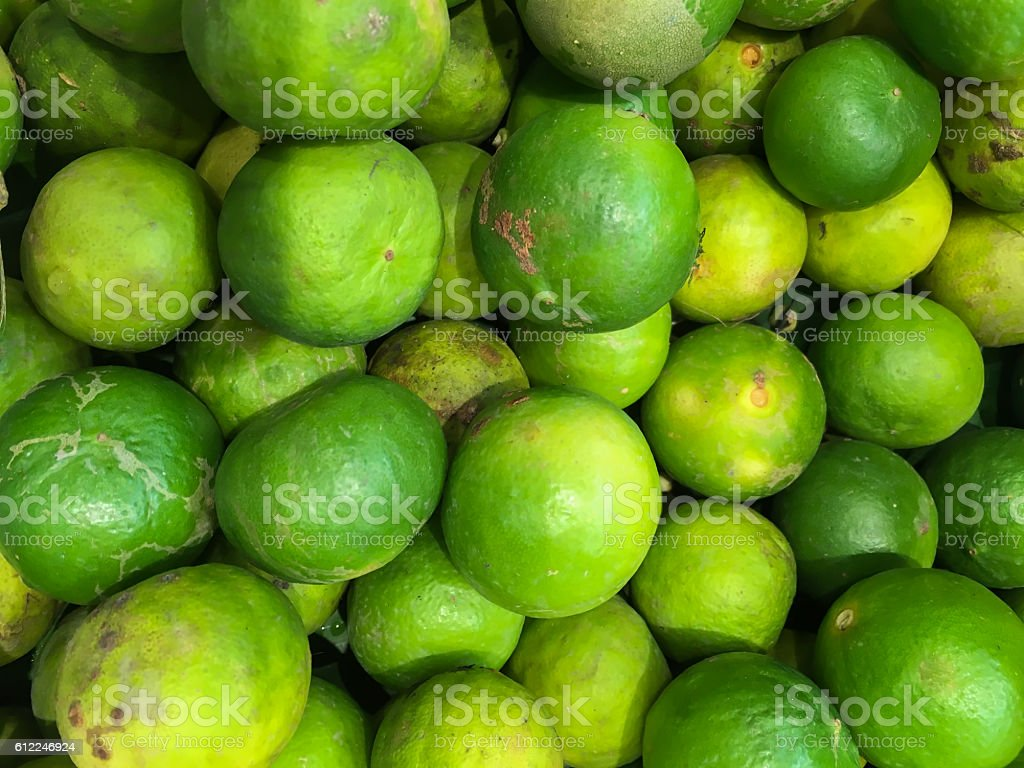 Fresh green lemon stock photo
