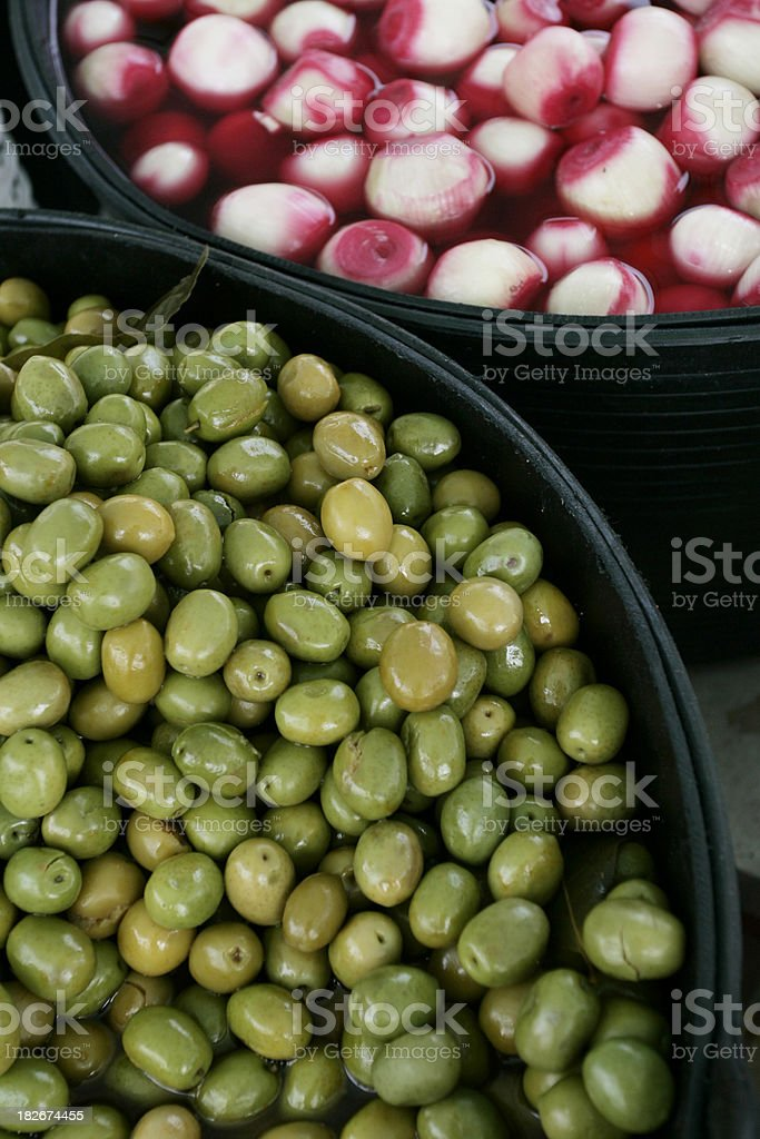 Fresh green olives royalty-free stock photo