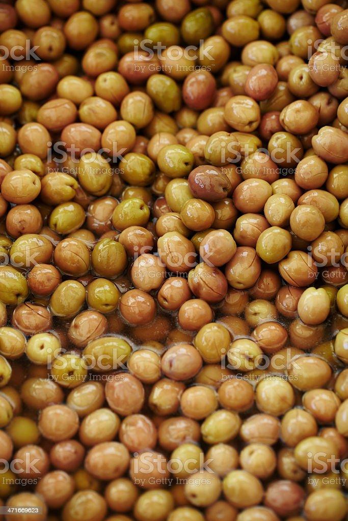 Fresh green olives royalty-free stock photo