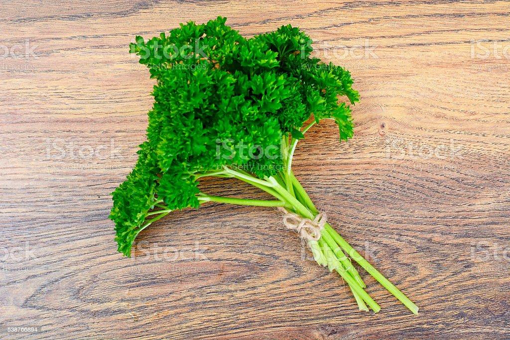 Fresh Green Parsley stock photo
