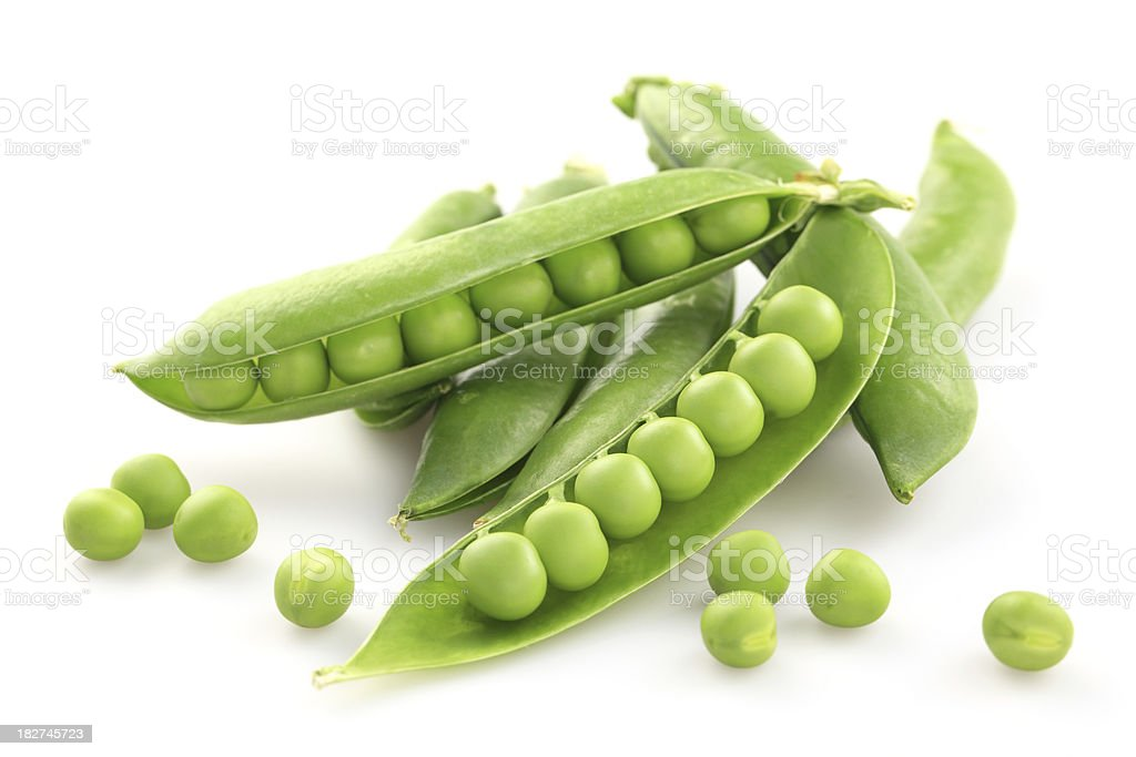 Fresh green pea stock photo