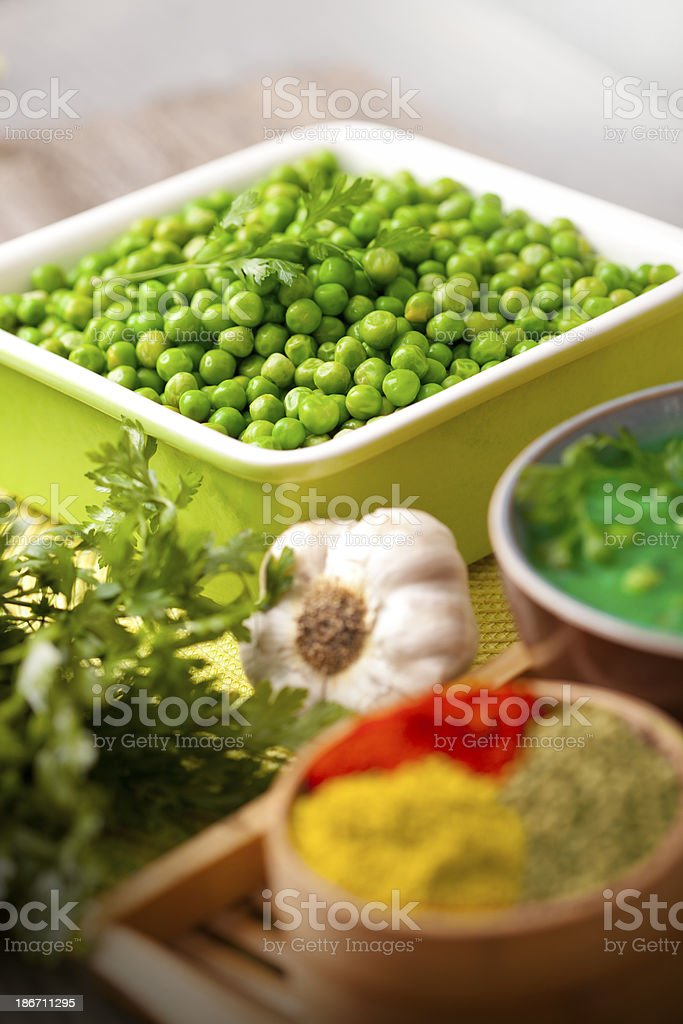 Fresh Green Pea royalty-free stock photo