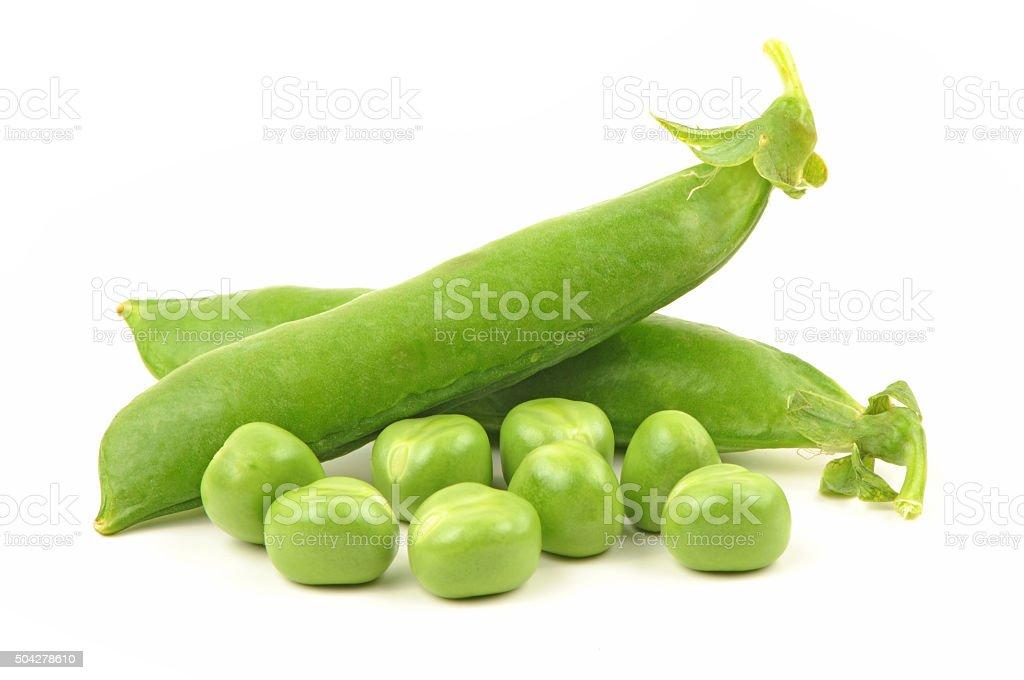fresh green pea stock photo