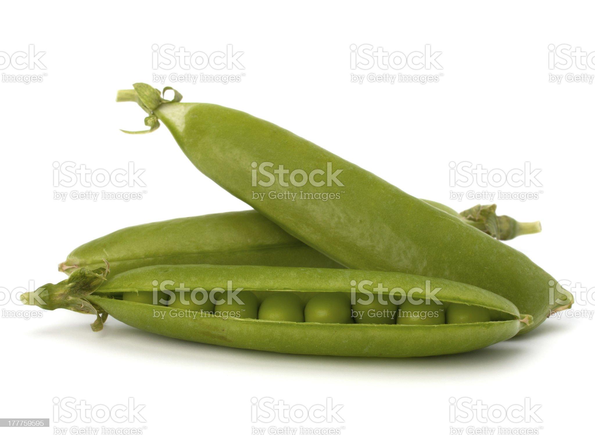 Fresh green pea pod royalty-free stock photo