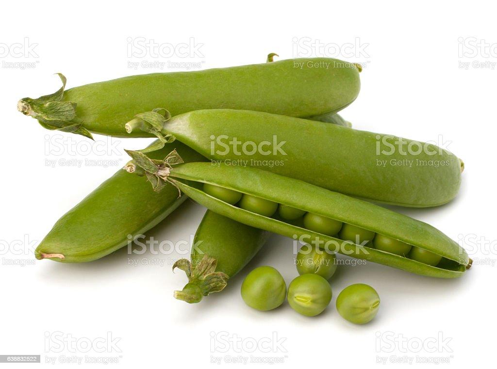 Fresh green pea pod stock photo