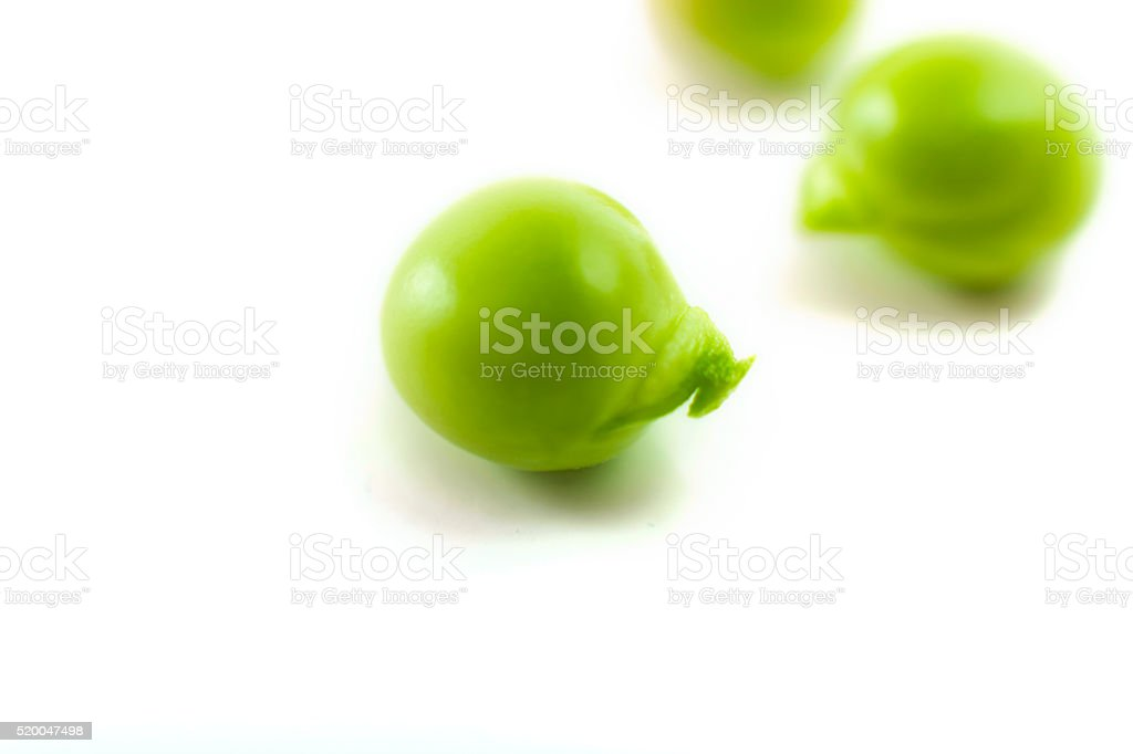 Fresh Green Peas Isolated on White stock photo