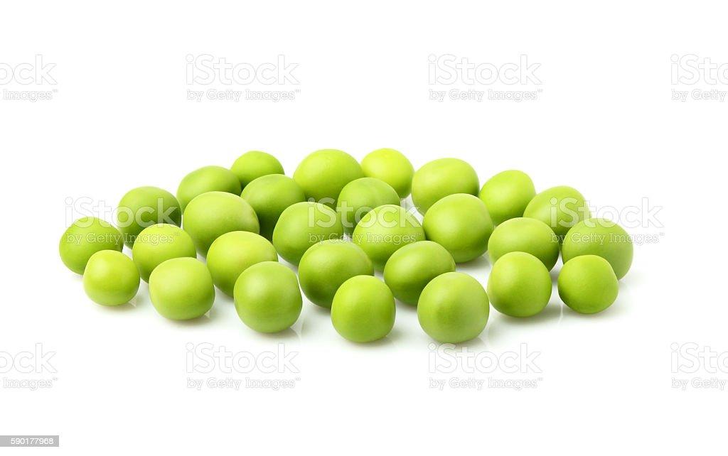 Fresh green peas isolated. stock photo