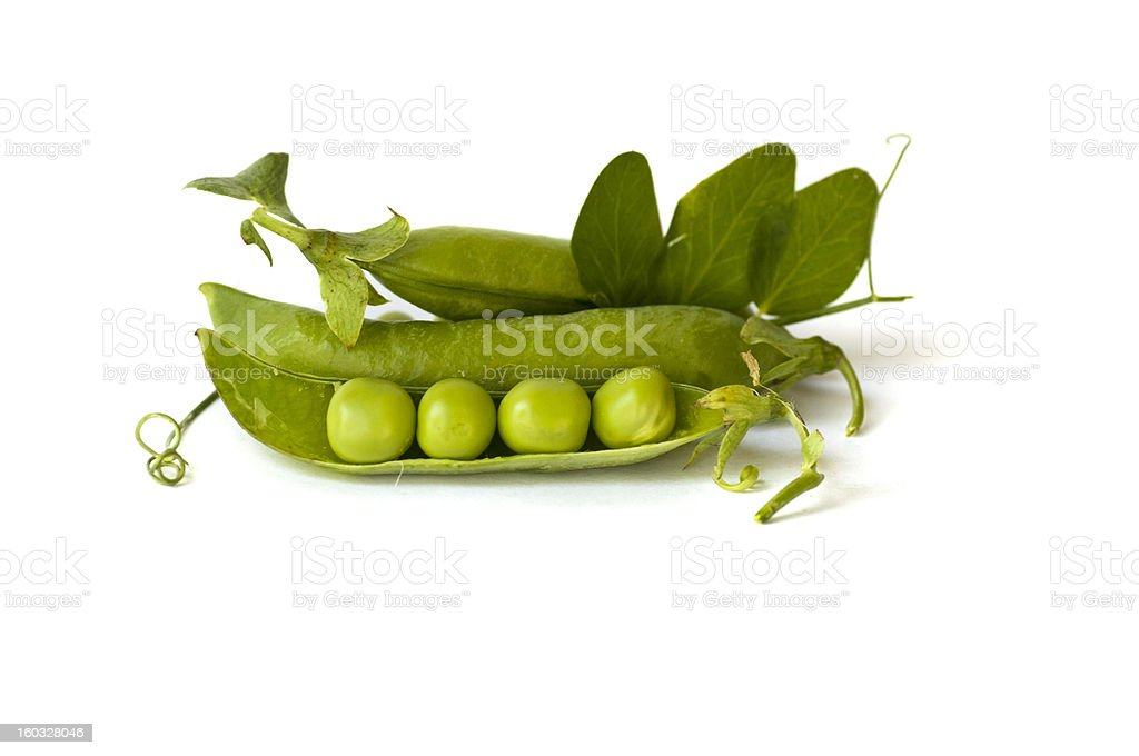 Fresh green peas royalty-free stock photo