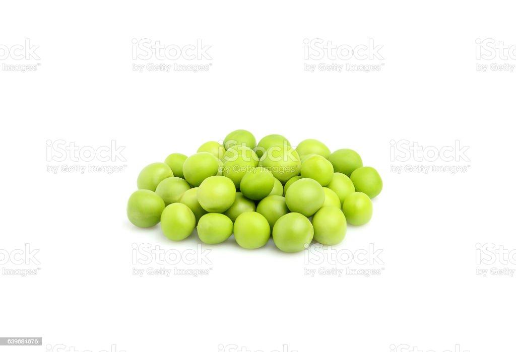 Fresh green peas. stock photo