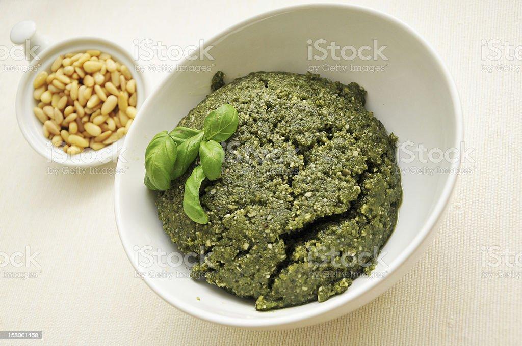 Fresh green pesto royalty-free stock photo
