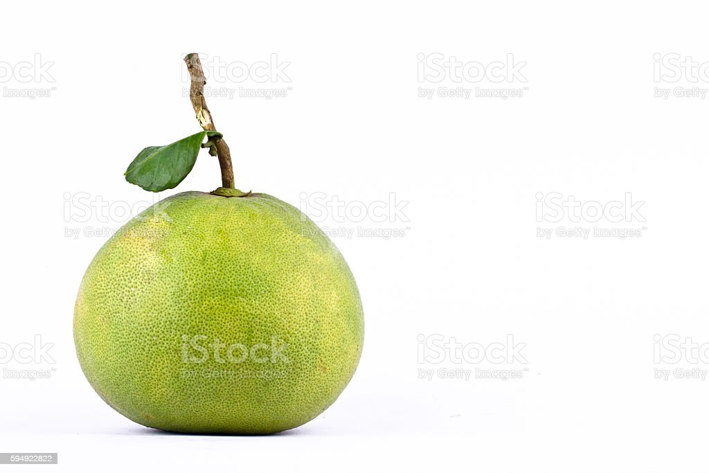 fresh green pomelos and leaf  pomelo stock photo