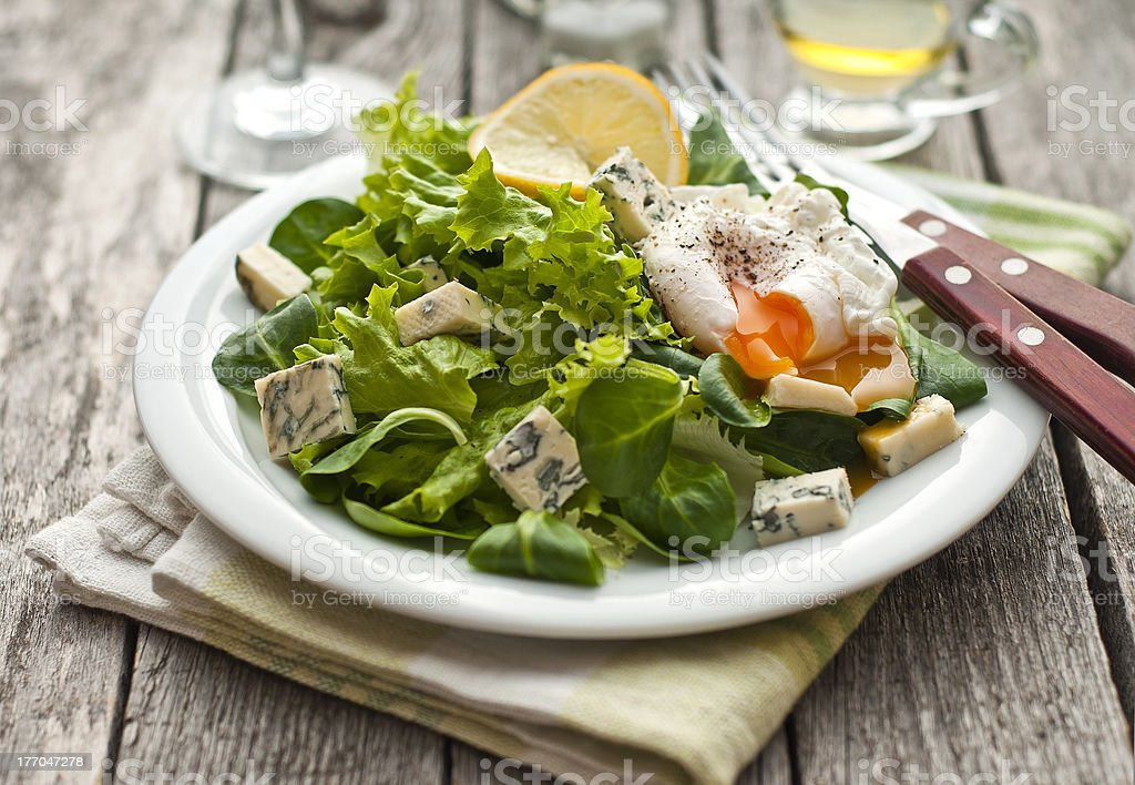 Fresh green salad royalty-free stock photo