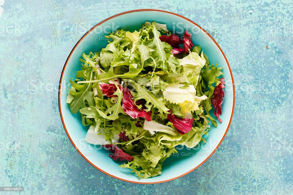 Fresh green salad stock photo