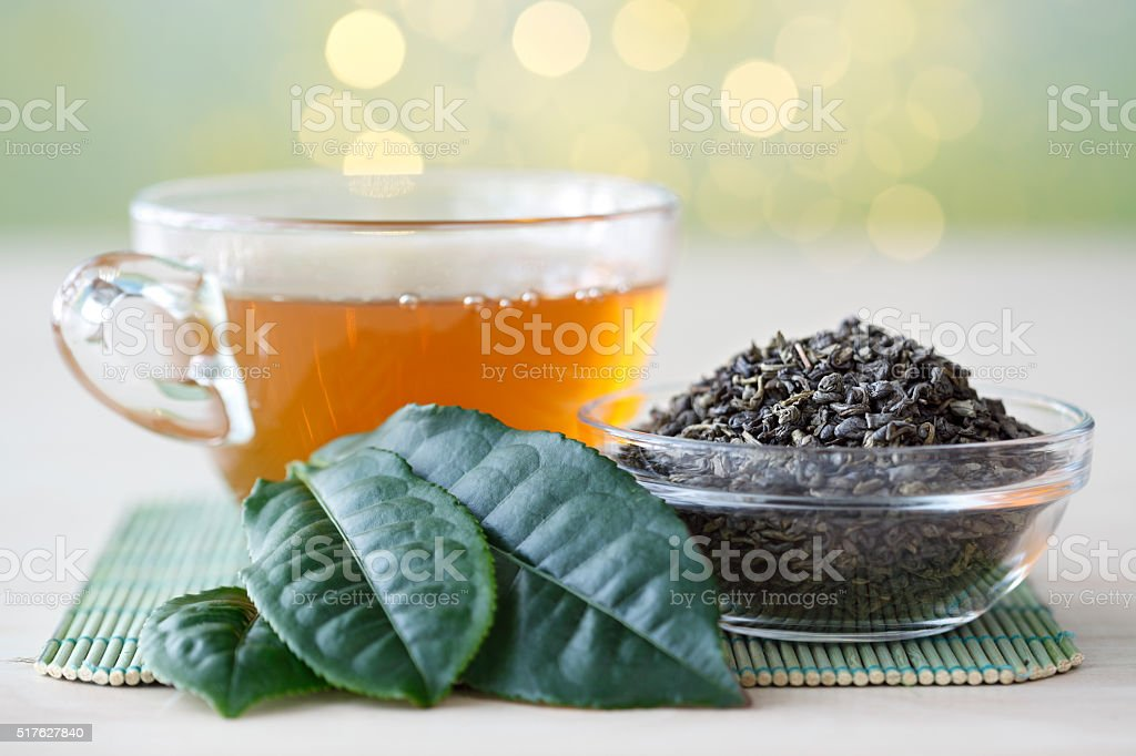 Fresh Green Tea stock photo