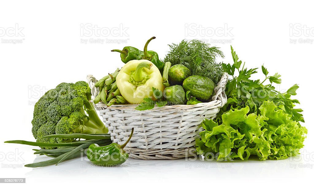 Fresh green vegetables stock photo