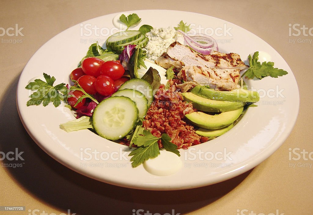 fresh grilled chicken salad royalty-free stock photo