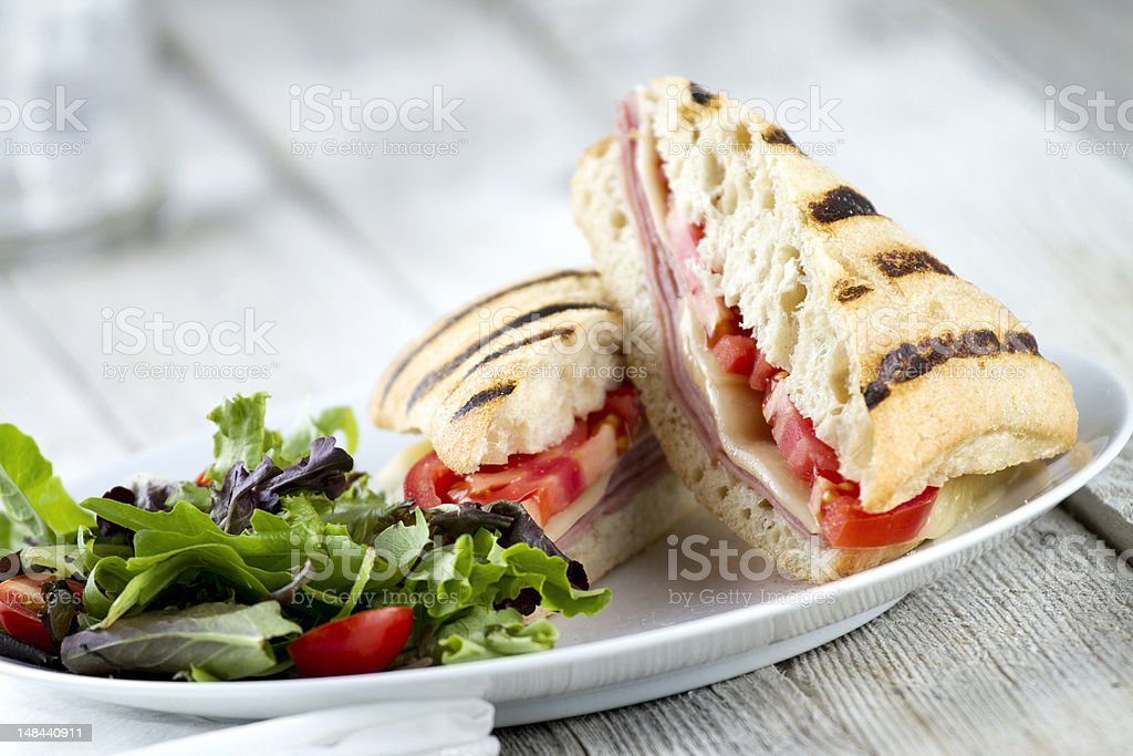 Fresh Grilled Panini Sandwich royalty-free stock photo