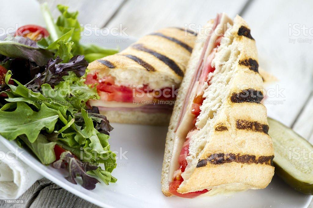 Fresh Grilled Panini Sandwich stock photo