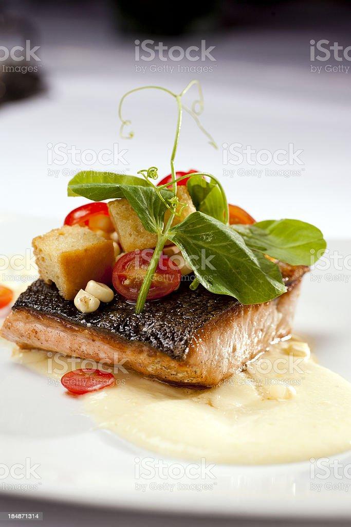 Fresh Grilled Salmon royalty-free stock photo