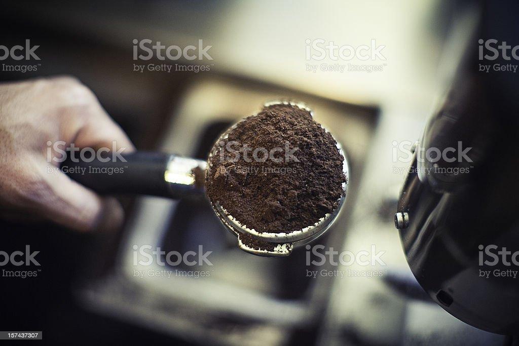 Fresh Ground Espresso stock photo