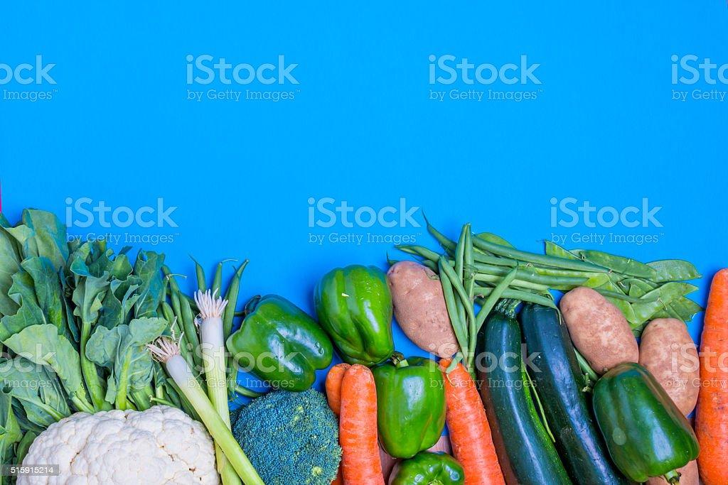 fresh group of vegetables stock photo