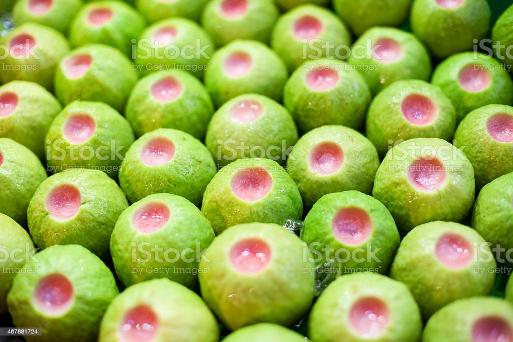 Fresh Guava Fruit at a Taiwan Night Market stock photo