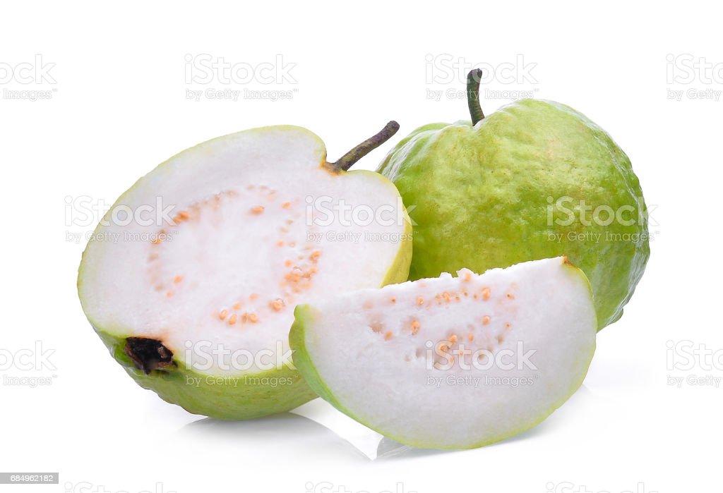 fresh guava fruit solated on white background stock photo