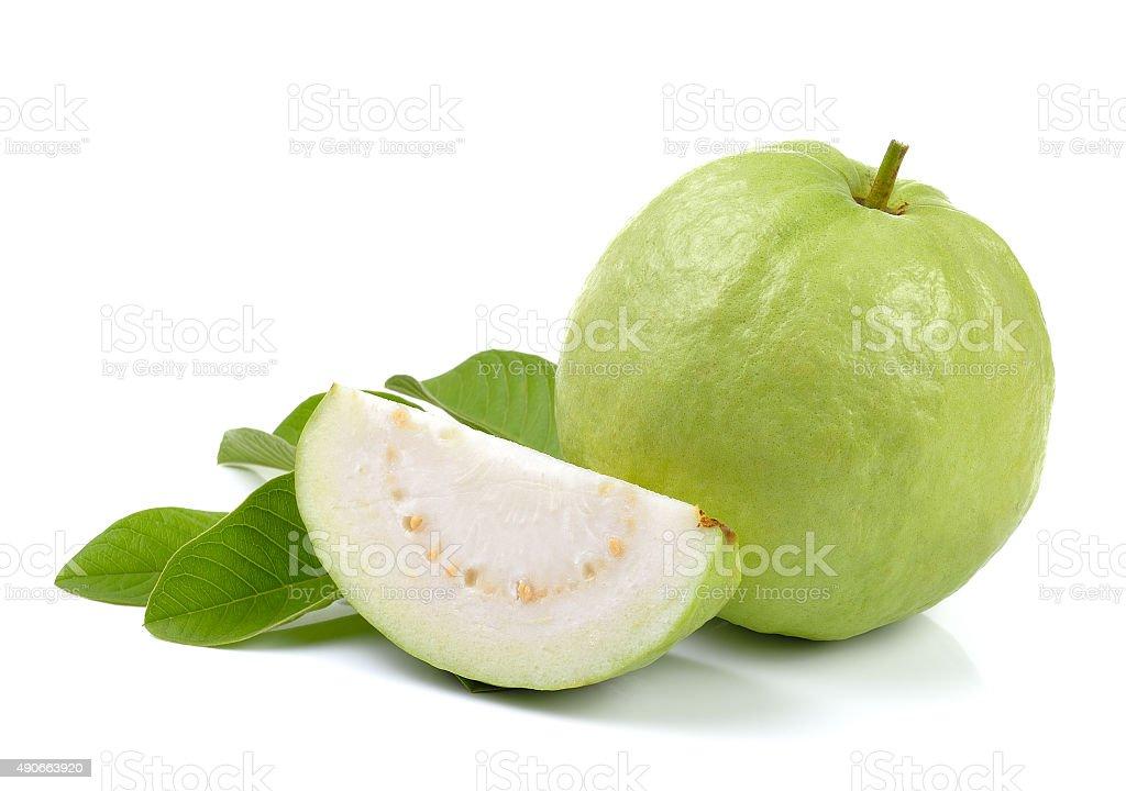 Fresh guava isolated on white background stock photo