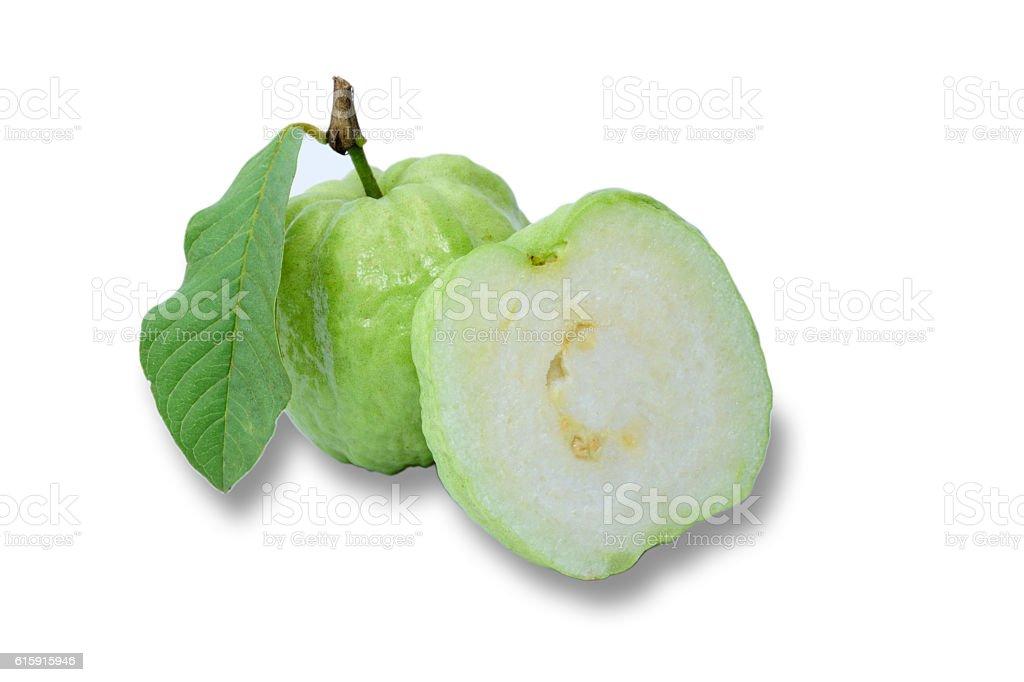 Fresh guava isolated on white background royalty-free stock photo