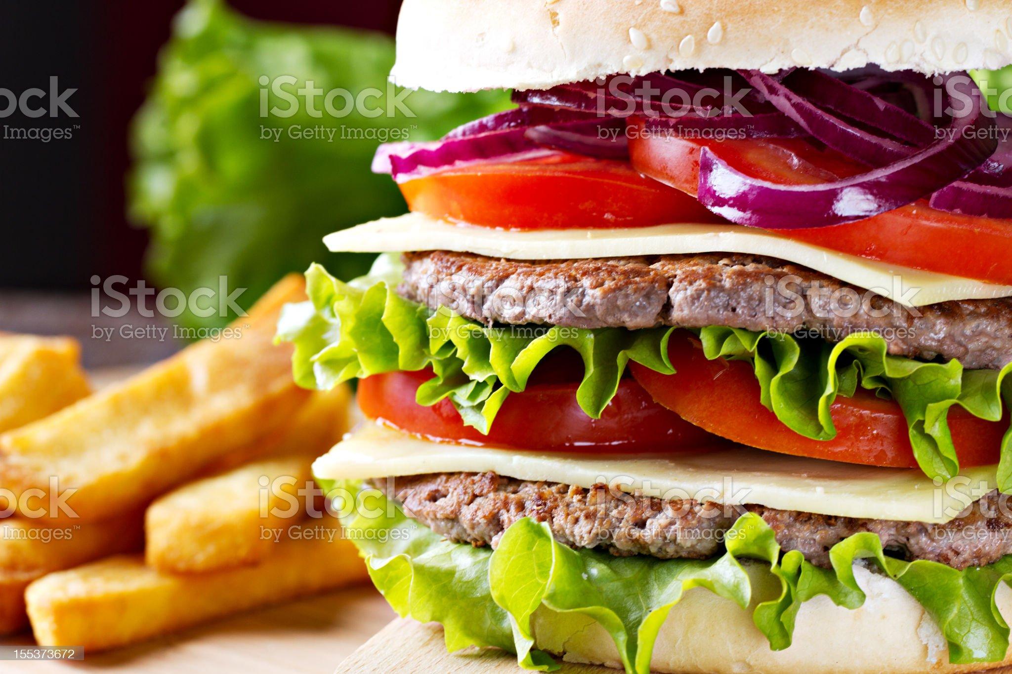 Fresh Hamburger royalty-free stock photo