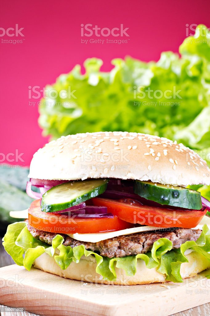 Fresh Hamburger royalty-free stock photo