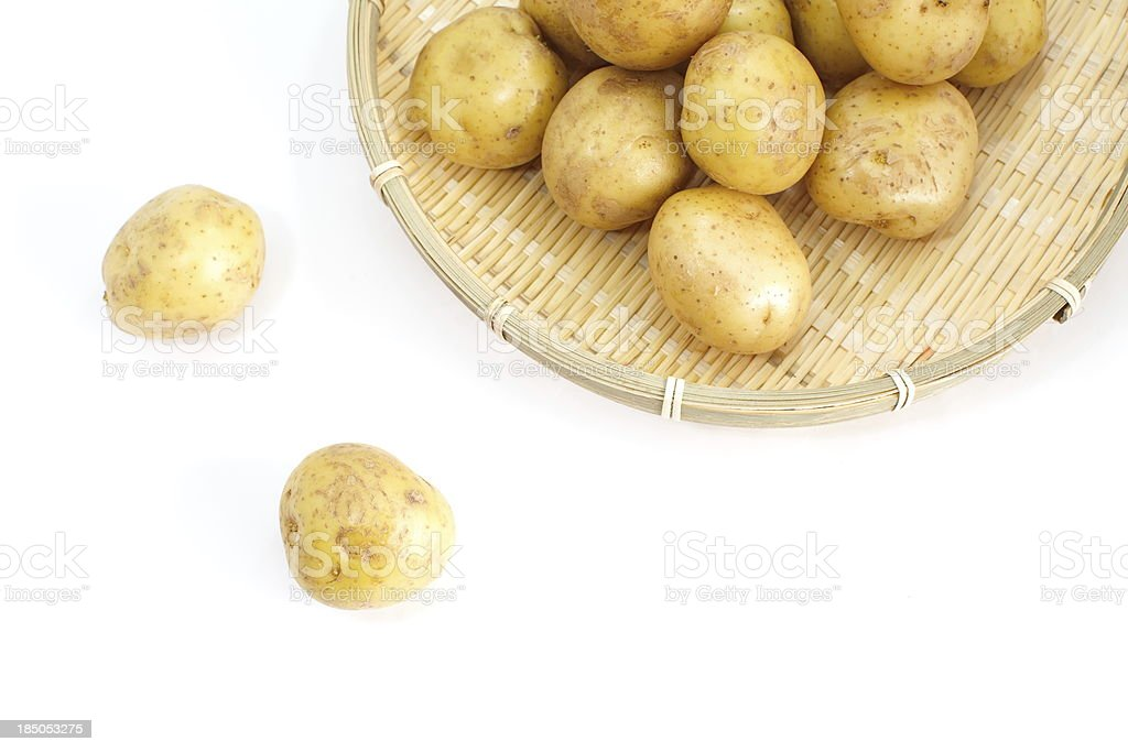 Fresh harvested potatoes royalty-free stock photo
