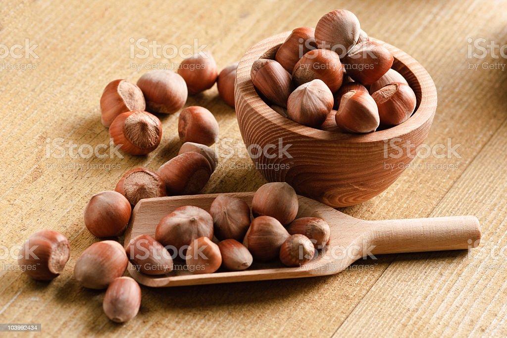 Fresh hazelnuts royalty-free stock photo