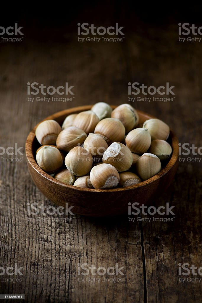 Fresh hazelnuts stock photo