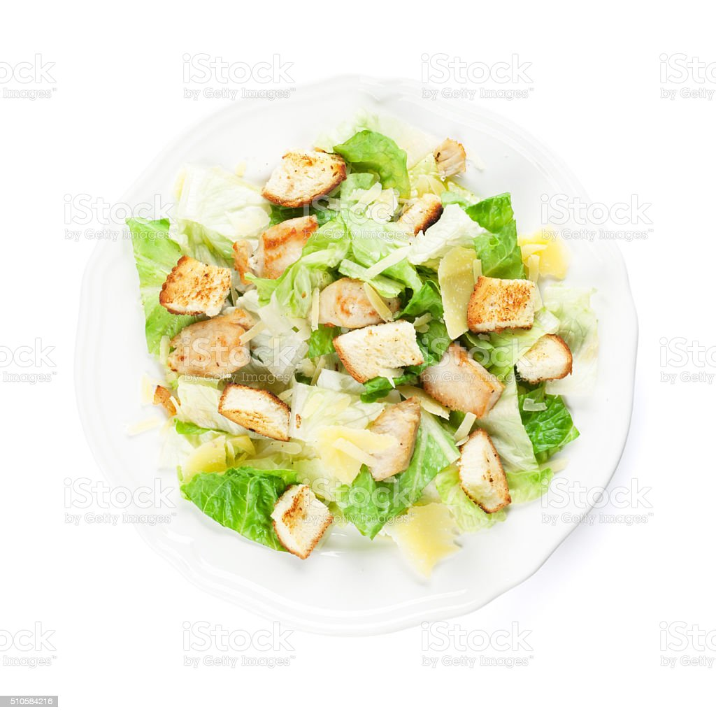 Fresh healthy caesar salad stock photo