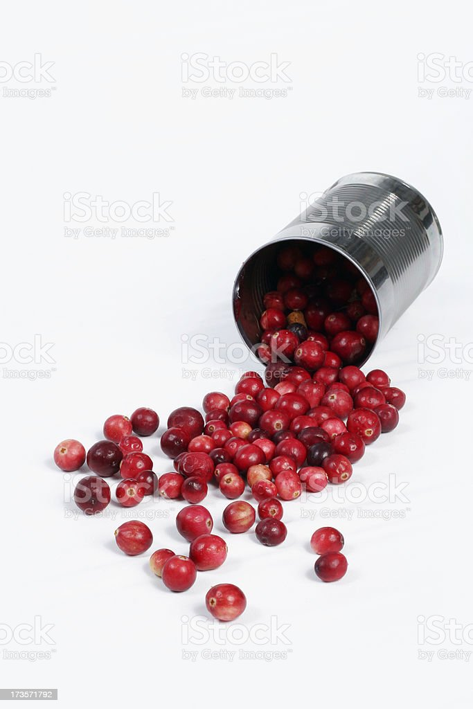 Fresh Healthy Canned Cranberries stock photo