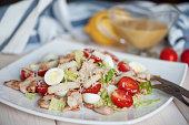 Fresh healthy Classic Caesar salad on plate