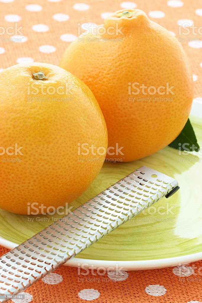 Fresh  healthy oranges stock photo
