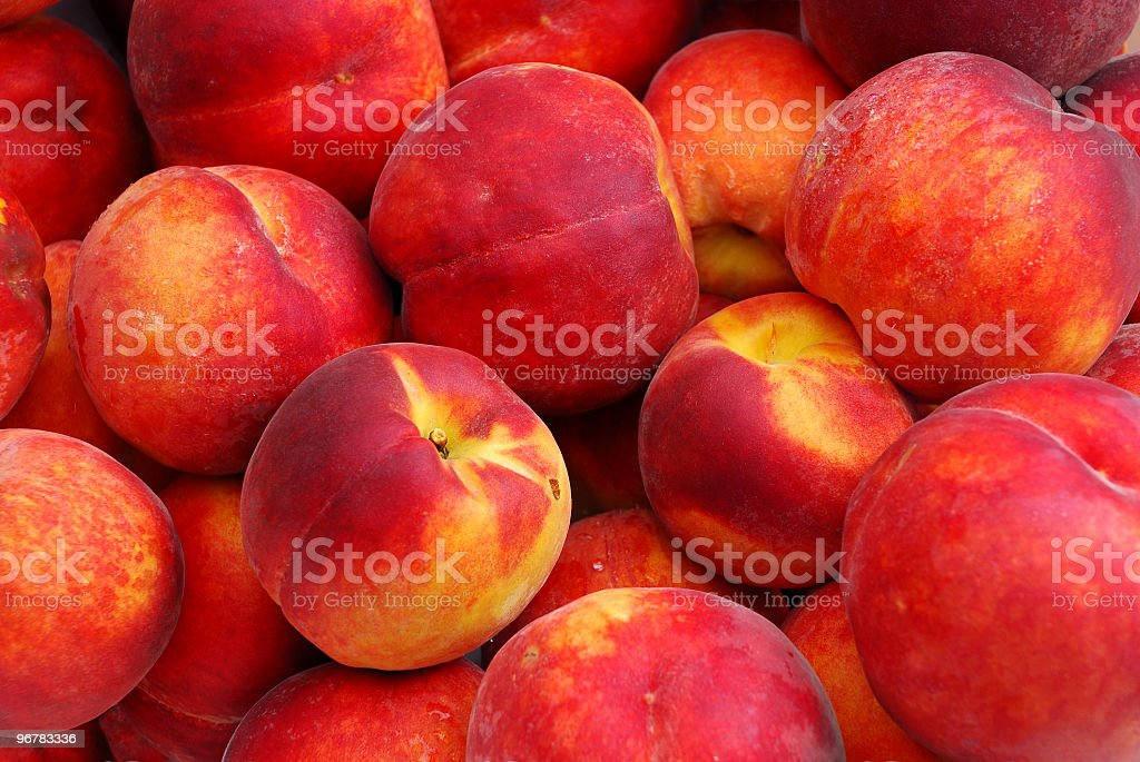 Fresh healthy  peaches stock photo