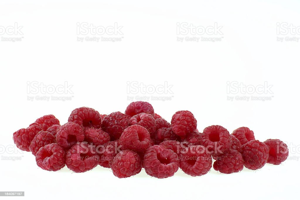 Fresh healthy raspberries royalty-free stock photo